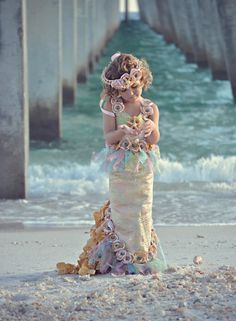 Holy mermaid costume! - flowers in our hair are a MUST.  this one is adorable.  @Amanda Jones