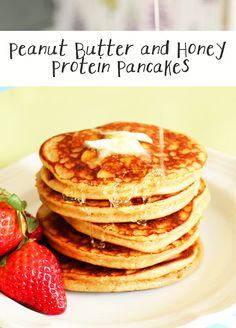 Peanut Butter and Honey Protein Pancakes Recipe on Yummly. @yummly #recipe