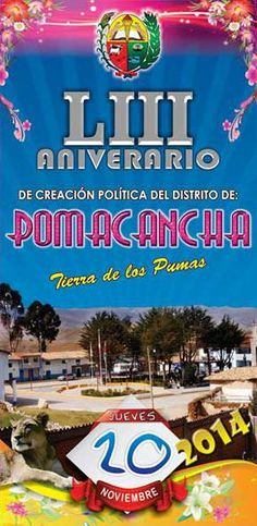 Programa de aniversario del 53º aniversario del distrito de Pomacancha