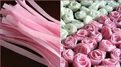 Flores de papel crepé | Manualidades de hogar