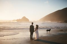 Big Sur Elopement, Pfeiffer Beach, California Wedding, Elopement, Elope, Elopement Photographer, Dogs, Dogs at Weddings