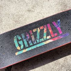 ae4e9f46862d @toreypudwill1 signature grip coming soon. #grizzlygang #stampgrip #tiedye  Longboard Design,