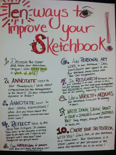 10 Ways to Improve Your Sketchbook - @coolcatteacher