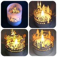 laser cutting acrylic candle holder - Google Search
