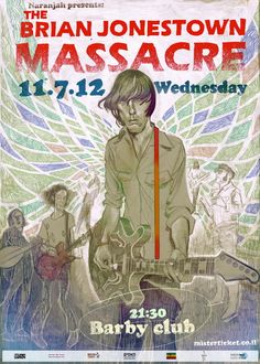 Live Show Poster - Brian Jonestown Massacre, Music Posters by L Filipe dos Santos, via Behance