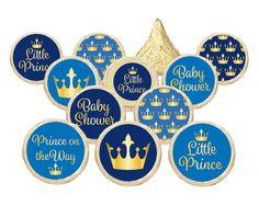 crown boy baby shower favors