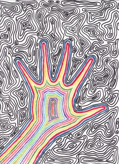 Easy Trippy Drawings Trippy by xxxlittleghostxxx Drawings in trippy drawings - Drawing Tips Trippy Drawings, Psychedelic Drawings, Easy Drawings, Hippie Drawing, Hippie Art, Hippie Bohemian, Trippy Painting, Painting & Drawing, Arte Sharpie