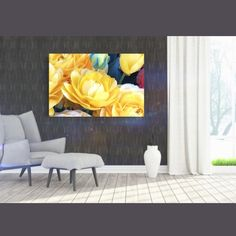 FLOWER CANVAS ART  In the meaning of flowers, a gift of these beautiful Ranunculus flowers means:    You are attractive and you radiate charm  Imagine your living room or master bedroom decorated in the colors of Spring with this wall art as a center-piece!    Ships to the USA & Canada ONLY  Premium artist-grade stretched canvas.  Copyright Carol Walden 2018 © Stretched Canvas Prints, Canvas Art Prints, Flower Canvas Art, Ranunculus Flowers, The Colour Of Spring, Flower Meanings, Original Artwork, Master Bedroom, Centerpieces
