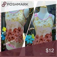 Summer Loving w/ Vera Wang Soft in Pink and Yellow Tones Tops Tank Tops