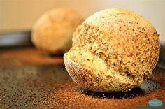 Low carb ciabatta buns. Gluten free bread. Coconut flour bread. Sugar free recipe. Diabetic friendly bread. By SweetAsHoneyNZ.