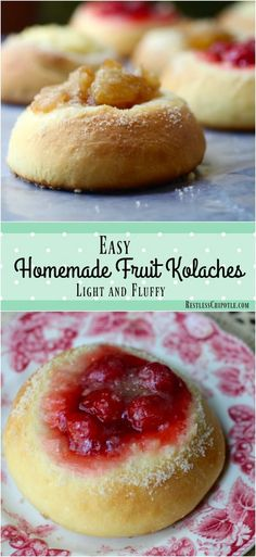 This easy homemade kolaches recipe will be a family favorite. Here in Texas they are a popular special occasion breakfast! I have a secret for getting the perfect texture every single time. :) Brunch Recipes, Breakfast Recipes, Dessert Recipes, Dessert Ideas, Strudel, Croissants, Sweet Dough, Sweet Roll Dough Recipe, Czech Recipes