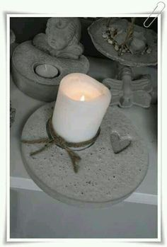 Concrete, Garden, Interior Design & many more – - All About Cement Art, Concrete Cement, Concrete Crafts, Concrete Garden, Concrete Projects, Concrete Design, Diy Projects, Support Bougie, Concrete Candle Holders