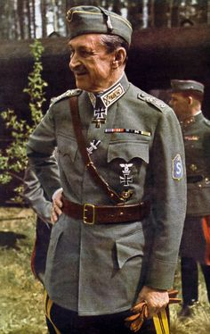 Finland's General Carl Gustaf Emil Mannerheim. Whilst engaged in war with the USSR Finland never wholly embraced the Nazi ideology. Finland never joined in  the German invasion of Russia. It somehow managed to avoid the excesses of the Nazi regime...