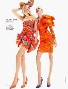 Call of Spring: Elise Aarnink, Gabriele Regesaite & Maud Welze for Elle Russia February 2015 by Nikolay Biryukov