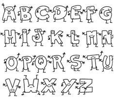 desenhos de letras bonitas do alfabeto - Google Search