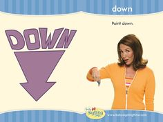 Learn Sign Language » Sign of the Week – Down