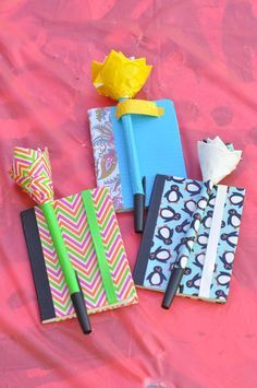 LDS girls camp craft. Duct tape mini notebooks.