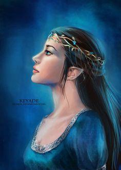 Elven woman  Midnight Blue by =Keyade on deviantART