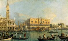 Giovanni Antonio Canaletto - Doge's Palace and St.Mark's Square