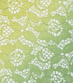 foiled ombre lace limeade / 55w / poly / $16