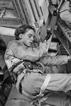 Mark Hamill beneath the belly of the AT-AT.
