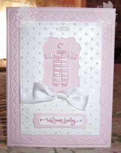 Handmade Baby Card ... Blog: EnchantINK ... Stampin' Up! - A Slice of Life