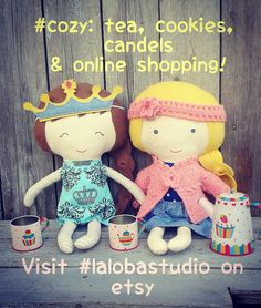 #cozy: tea cookies candels and online shopping! Day 15 #craftynov ig challenge. visit  #lalobastudio on #etsy; click link in bio #tea #cookies #candels #onlineshopping #onlineshop #christmas2015 #giftideas #kidstoy #fabricdolls #christmasgiftideas #etsykids #bestfriendsforever #princess #comfy #crochet #dressup #dolls #playing #teatime #bff #dollsanddaydreams #girls