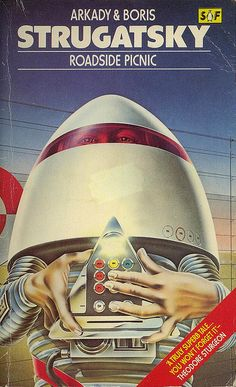 """""""Roadside Picnic"""" Another strange and slightly deranged airbrushed SF Book Cover from Adrian Chesterman this one dates from 1979."""