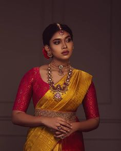 You can get timeless bespoke saris here! - You can get timeless bespoke saris here! – You can get timeless bespoke saris here! South Indian Wedding Saree, Indian Bridal Sarees, Indian Bridal Outfits, Indian Bridal Fashion, Saree Wedding, South Indian Sarees, Dress Wedding, Wedding Silk Saree, South Indian Weddings