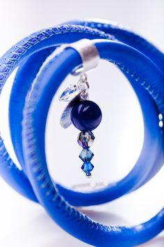 bransoletka sk�łrzana- kobalt