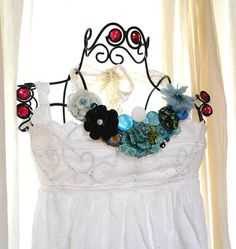 Romantic Blue statement Necklace Bride by TrueRebelClothing, $60.00