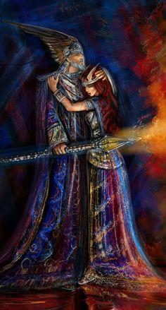 Wotan and Brunhild