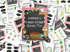 Dramatic Play Garden and Farm Stand Printable Kit for Preschool and Kindergarten. Learn and play with these fun printable props! Preschool Centers, Fall Preschool, Preschool Lesson Plans, Preschool Printables, Kindergarten Activities, Kindergarten Rocks, Farm Activities, Preschool Education, Kindergarten Reading