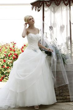 Emé di Emé Wedding Dress 2012  Provençal Atmosphere Bridal Collection /Strapless ball gown with pleated bodice.