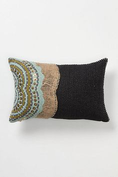 Gather & Glean Pillow, Small #anthropologie -- copy this look with standard pillow...add fabric swatches and beading