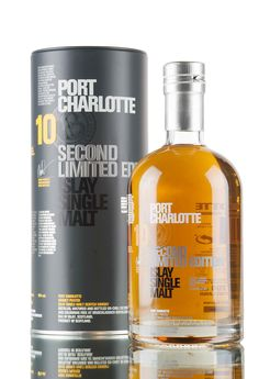 The 2nd limited edition Port Charlotte aged for 10 years is a heavily peated (40ppm) Islay single malt Scotch whisky, matured in first-fill bourbon, sherry, tempranillo and French wine casks. Matured and bottled at Bruichladdich Distillery, bottled at 50%.