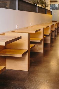 modern wood booth seating | Skylar Morgan Furniture + Design