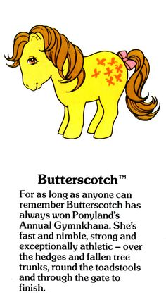 My Little Pony Butterscotch fact file ...