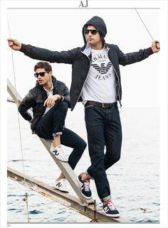 Fabio Mancini and Tomas Skoloudik for Armani Jeans by David McKnight