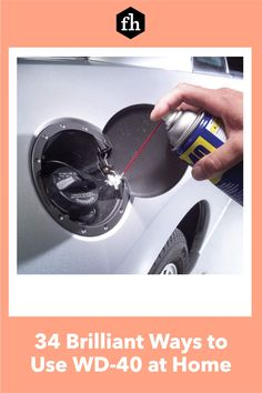 You already use WD-40 to loosen bolts and stop squeaking hinges, but did you know it could do these other amazing things? Wd 40 Uses, Gum Stick, Bathtub Repair, Super Glue, Car Detailing, Amazing Things, Smudging, Hacks, Tips