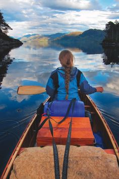 Paddling on Loch Morar in the Highlands, the deepest freshwater body in the British Isles with a depth of 310m