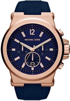 bol.com   Michael Kors MK8295 - Horloge - Kunststof - Blauw - 42 mm