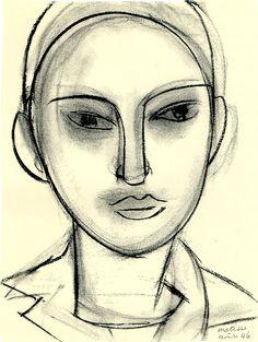 henri-matisse Face (Claude) charcoal on paper x 30 cm. Henri Matisse, Matisse Drawing, Matisse Art, Life Drawing, Painting & Drawing, Painting Lessons, Plastic Art, Pierre Auguste Renoir, Post Impressionism
