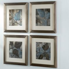 Found it at Wayfair - Botanical Perfect Match 4 Piece Framed Painting Print Set