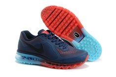 Nike Air Max 2014 LG Mørkblå Lysblå Rød Herresko