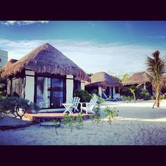 CoCo Cabanas on Tulum Beach- I could spend weeks swaying in the hammocks and reading... weeks I tell you. This place is also one of the more moderately price places in Tulum...