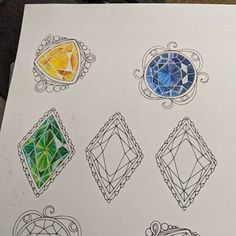 Roo Lawitzke added a photo of their purchase Gem Drawing, Diamond Drawing, Jewelry Illustration, Hand Illustration, Gem Tattoo, Jewelry Design Drawing, Colored Pencil Techniques, Jewellery Sketches, Jewelry Art