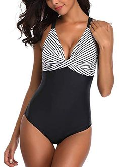 Damen Tankini Set Push Up Bikini Badeanzug Schwimmrock Monokini Bademode Padded