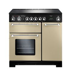 Buy The Rangemaster Kitchener 90 Dual Fuel Stainless Steel Range Cooker 98760 From CookersAndOvens At A Fantastic Price. Electric Range Cookers, Dual Fuel Range Cookers, Electric Oven, Wok, 90cm Range Cooker, John Lewis, Domestic Appliances, Built In Ovens, Planks