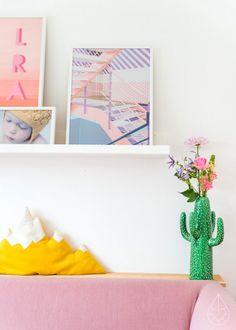 A cactus vase.